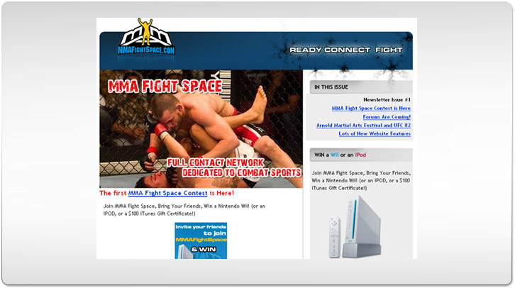 MMA Fight Space Newsletter by Chris Ilagan