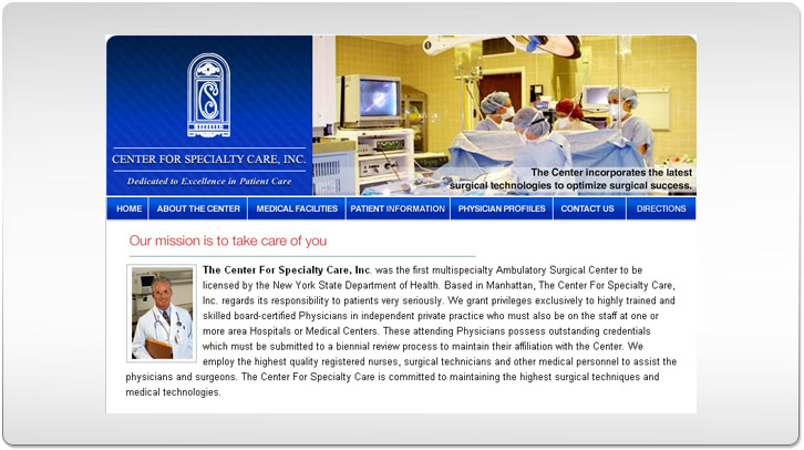 Specialty Care Inc. Site Design Concept by Chris Ilagan
