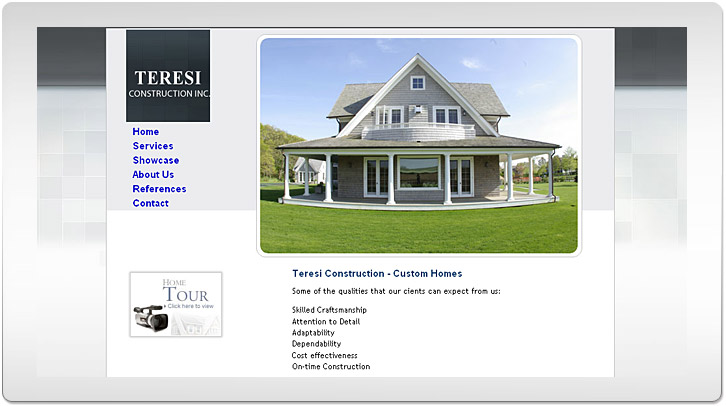 Teresi Construction Website by Chris Ilagan